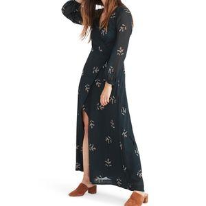 Madewell Dark Green Nightflower Maxi Dress